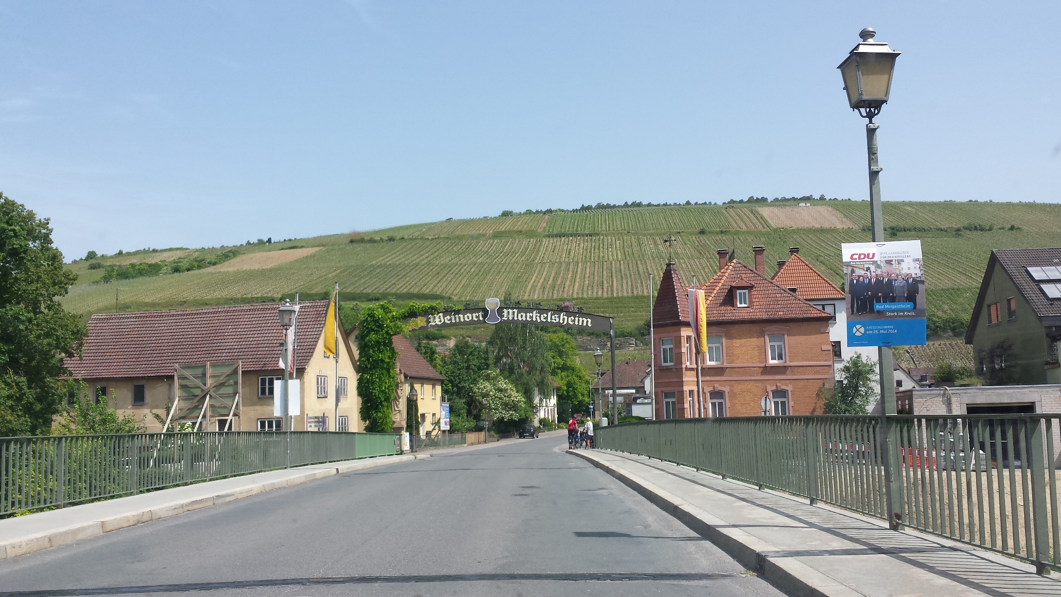 Markelsheim, a wine village in the middle of the Tauber valley.